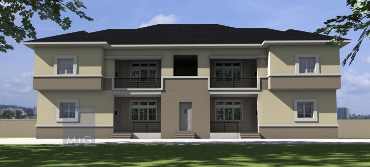 Exquisite Contemporary Nigerian Residential Architecture: 4 Units Of 2 Bedroom Nigerian Residential Flats Photo