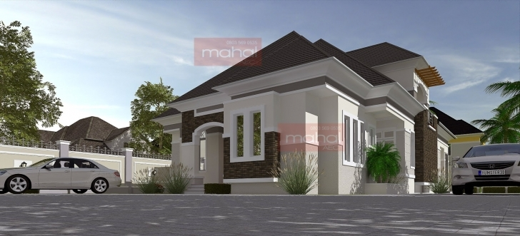 Exquisite Contemporary Nigerian Residential Architecture: Caoimhe House 3 Bedroom Bungalow With Pent House In Nigeria Picture