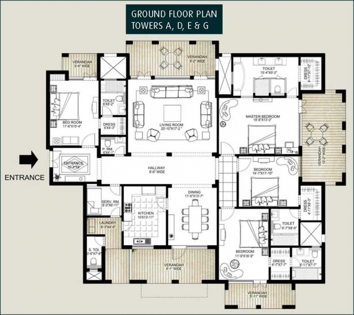 Exquisite Ground Floor 3 Bedroom Plans - Homes Floor Plans Ground Floor Plan For 4 Bedroom Flat Image