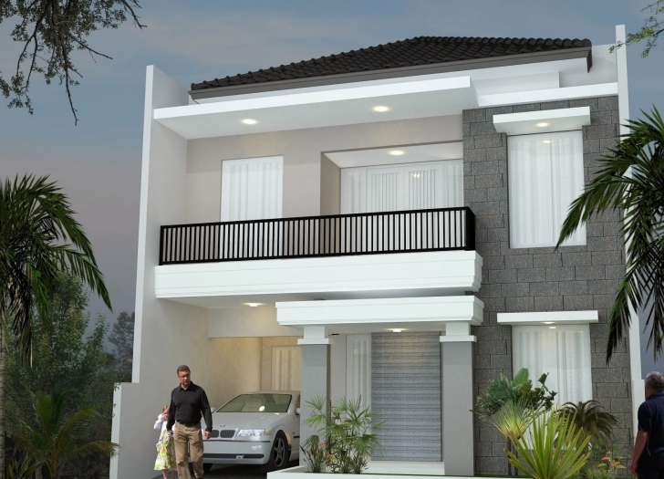 Exquisite Minimalist Design House 2Nd Floor | Desain Rumah Minimalis 2 Lantai 2Nd Floor House Front Design Pic