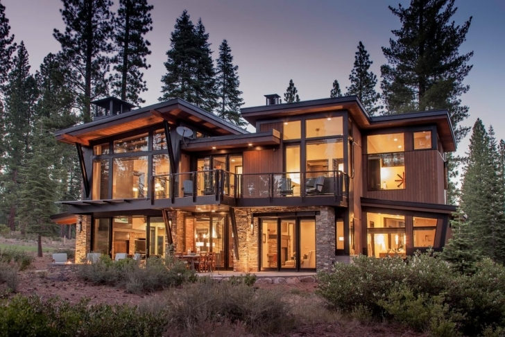 Exquisite Mountain Contemporary House Plans | Nicf Contemporary Rustic Mountain Home Plans Image