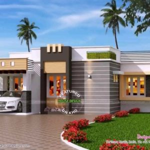 Single Floor House Front Elevation Designs In Kerala