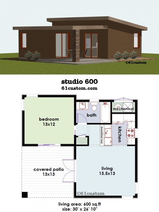 Exquisite Studio600: Small House Plan | Small House Plans, Smallest House And Small House Plans Image