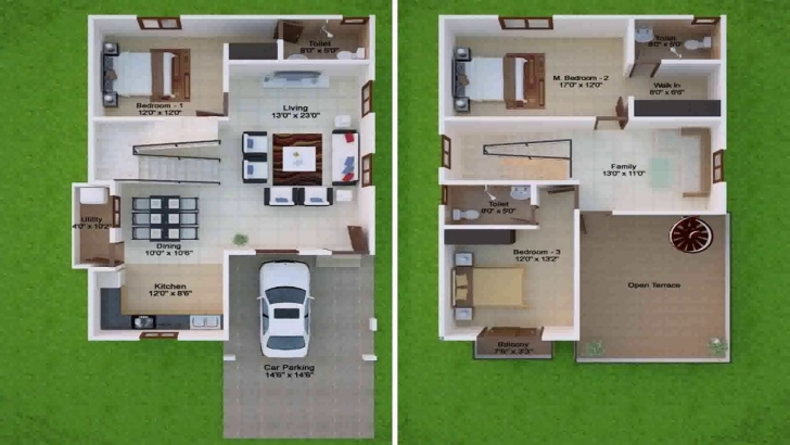 Fantastic 20X30 Duplex House Plans West Facing - Youtube 20*30 Duplex House Plans 3D Photo