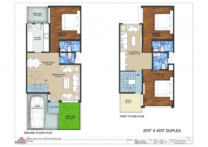 Fantastic 20X45 Duplex Floor Plan Http://wwwhomes.in/projects.php | Flat 20X45 House Plan West Facing Pic