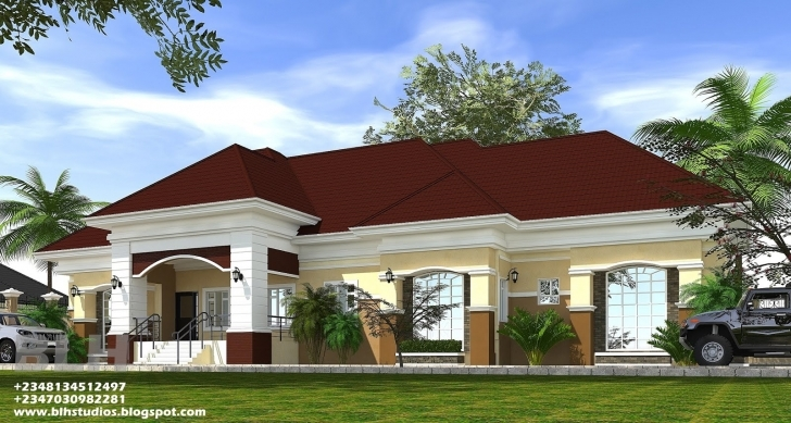 Fantastic 4 Bedroom Bungalow Architectural Design Architectural Designs 4N Bedroom Bungalow Architectural Design Image