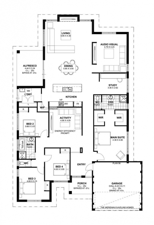 Fantastic 4 Bedroom House Plans Tuscan - Home-Improvements 4 Bedroom Modern House Plans Australia Photo