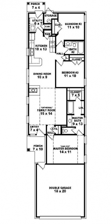 Fantastic 653501 - Warm And Open House Plan For A Narrow Lot : House Plans Narrow Lot House Plan Picture