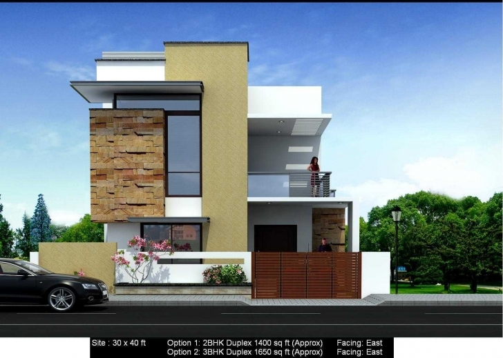Fantastic Fascinating 3Bhk Home Plans With Elevation Collection Including Bhk North Face Duplex House Elevation Photo