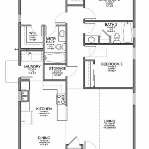 3 Bedroom Flat Plan