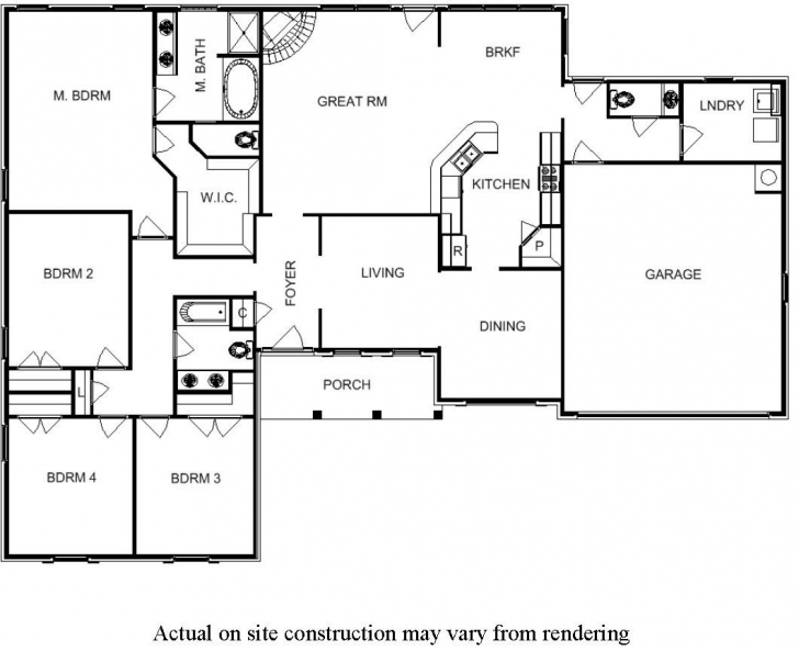 Fantastic Floor Plan Single Storey House Awesome 4 Bedroom Floor Plans For E 4 Bedroom Single Story House Floor Plans Pic