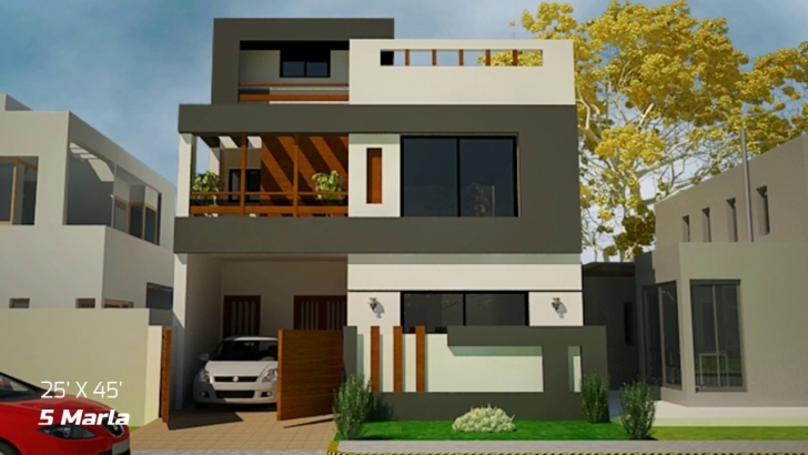 Fantastic Front Elevations For Small Houses Part-2 - Youtube Pics Of 7 Marla House With Thier Arcetect Picture