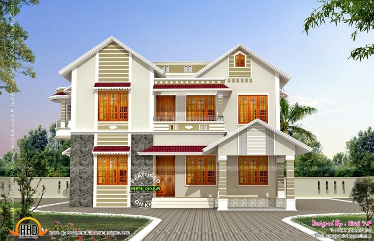 Fantastic Front Side Elevation House Kerala Home Design Floor Plans - Building Home Front Look Pic Pic