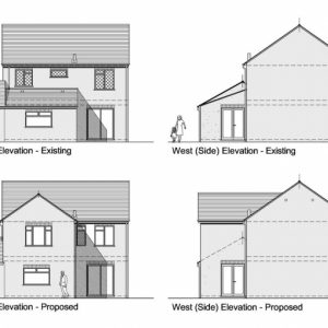 House Plan Elevation And Section Drawings