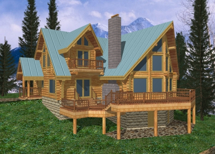 Fantastic Log Cabin Home Design Coast Mountain Homes - House Plans | #20485 Rustic Mountain Home Floor Plans Photo