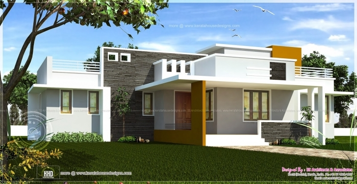 Fantastic Single Floor Contemporary House Design Indian Plans - Building Plans Single Floor Elevation India Pic