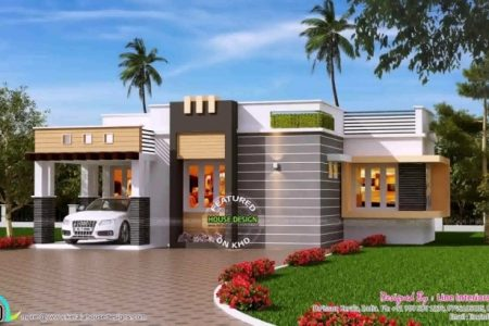 Single Floor Home Front Design In Kerala