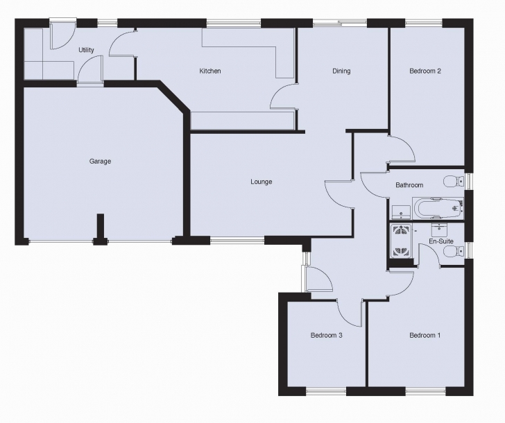 Fantastic Three Bedroom Floor Plans Charming Three Bedroom Bungalow House Floor Plan 3 Bedroom Bungalow House Picture