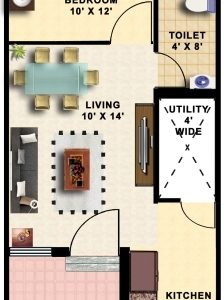 15*50 Duplex House Plan