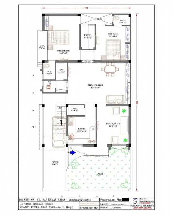 Fascinating 20 X 60 House Plan Design India Arts For Sq Ft Plans Designs Floor 20*60 House Plan 3Bhk Picture