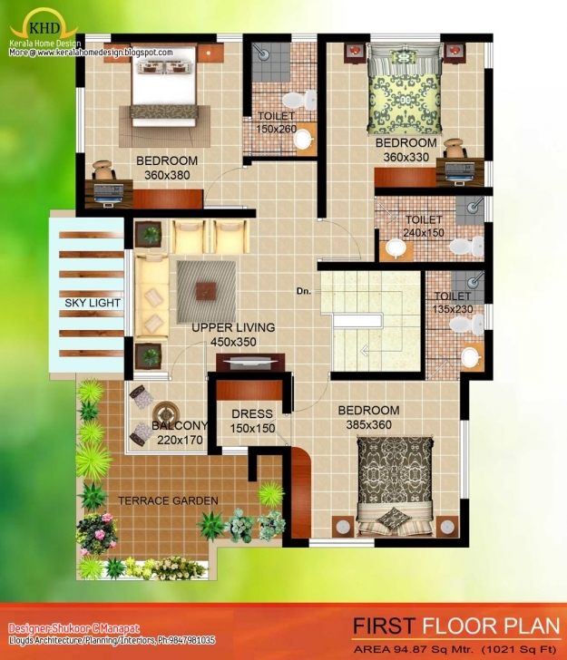 Fascinating 4 Bedroom House Plans With No Garage | The Base Wallpaper 4 Bedroom Modern House Plans In Kerala Photo