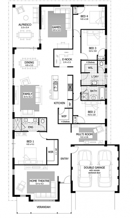 Fascinating Apartments. 4 Bedroom House Plans: Bedroom Floor Plans House Best Full House Plans In Limpopo Image