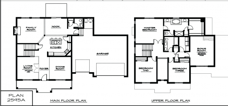 Fascinating Architecture. 4 Story House Plans With 3 Bedrooms: Two Story House Simple 4 Bedroom House Plans 2 Story Pic