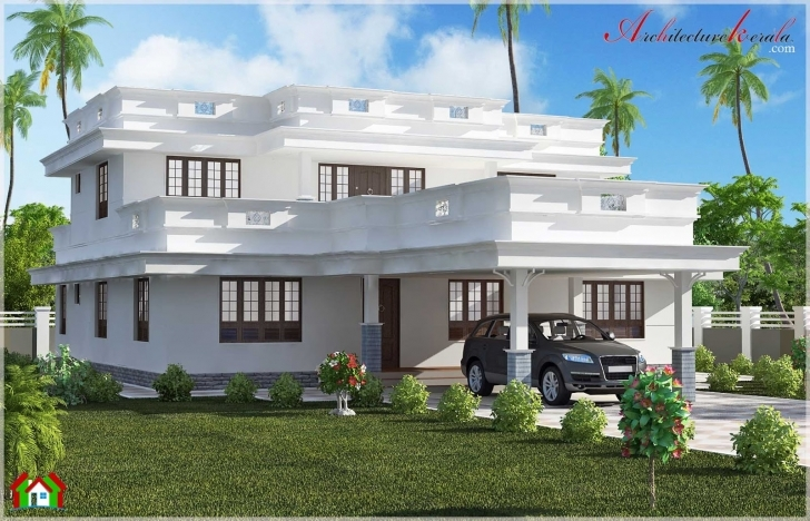 Fascinating Beautiful Flat Roof Home Design - Architecture Kerala Beautiful Flat Roofed Houses Pic
