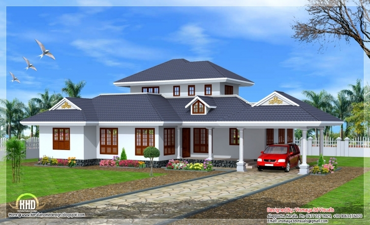 Fascinating Beautiful Kerala Style Single Floor Villa Indian House Plans - House Single Floor House Plans Kerala Style Pic