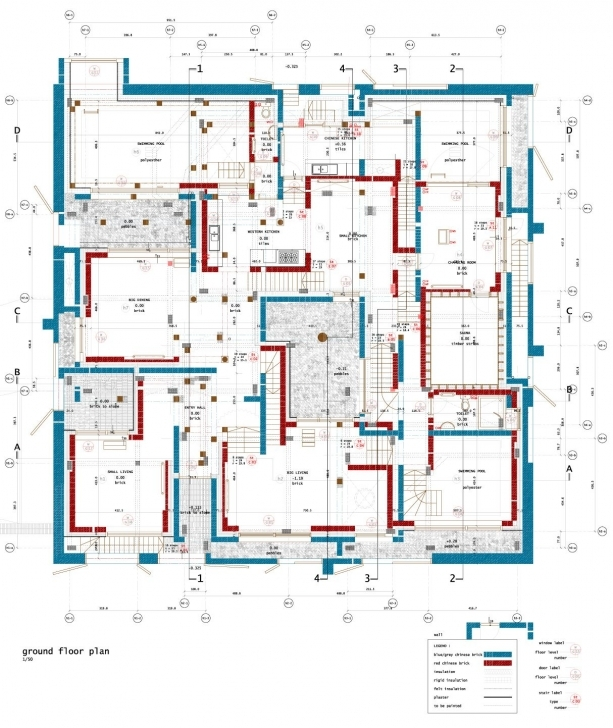 Fascinating De Vylder Vinck Taillieu Ordos_House Of Seven Houses | Square Plans Economically Weaker Section Housing Plans Pic