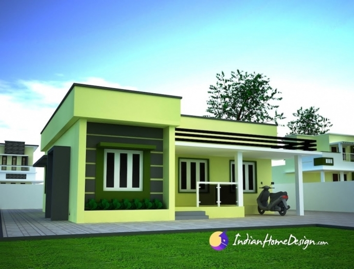 Fascinating Flat Roof House Plans With Photos In Soweto Designs Kerala Style Simple Flat Roofed Houses Pic