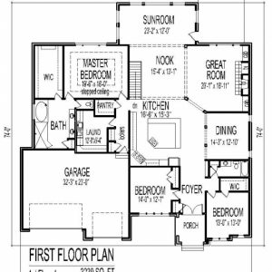 3 Bedroom House Plans With A Garage
