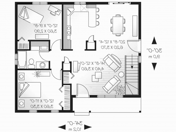 Fascinating House Plans Under 1000 Sq Ft Luxury Small House Plans Under 1000 Sq 1000 Sq Ft Pic