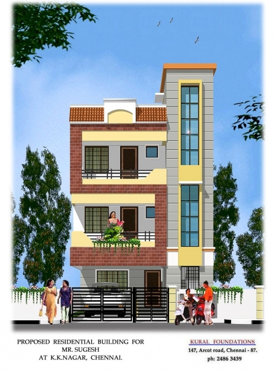 Fascinating Simple Small House Front Design | The Base Wallpaper House Front Designs 15 Picture
