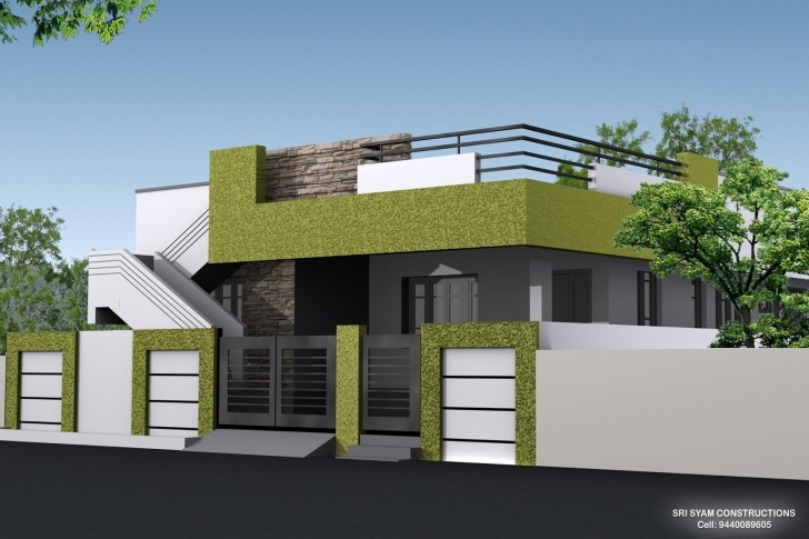 Fascinating Single Floor House Elevation Designing Photos | Home Designs Single Floor Elevation Work Photo