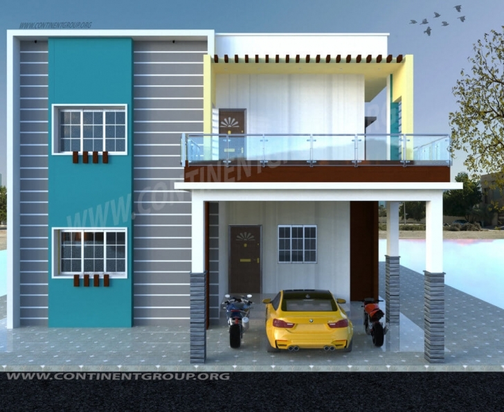 Good 3D Building Elevation-3D Front Elevation - Continent Group Best Building Plan With Elevation Image