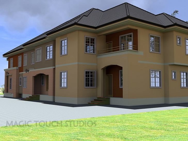Good 4 Bedroom Duplex With Attached Two Bedroom Flat. Four Bedroom Flat Design In Nigeria Picture