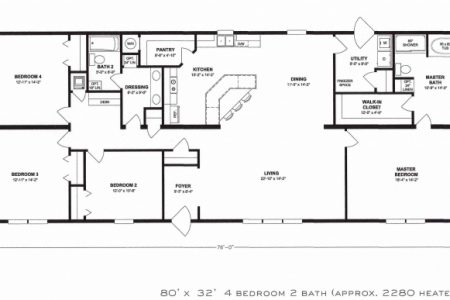 Four Bedroom Floor Plans