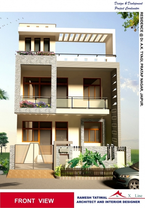 Good Home Architectural Design Modern 3D Front Elevation Modern House Modern 3D Elevation Picture