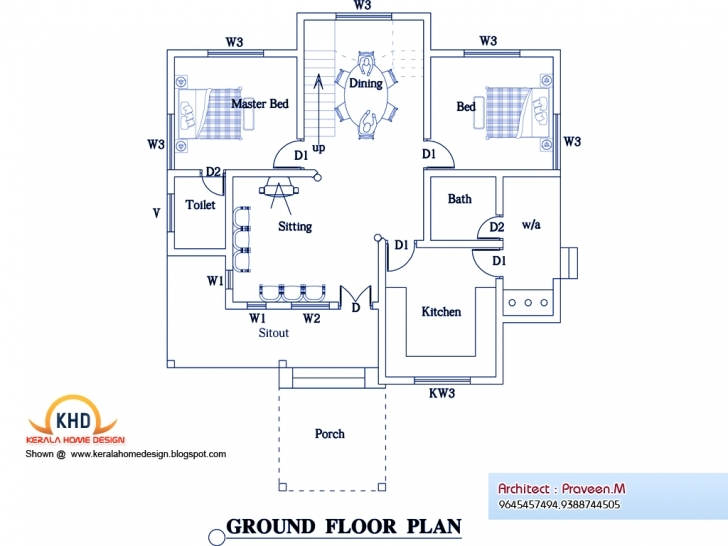 Good Home Architecture: Bedroom Home Plan Elevation Kerala Design Floor Civil Design House Photo