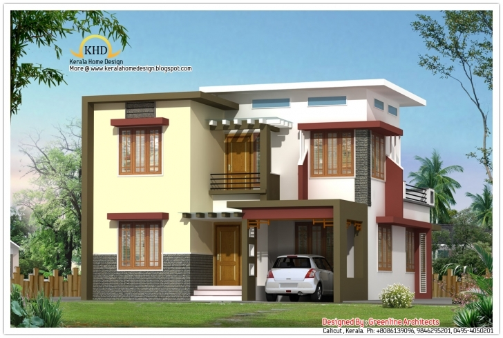 Good Modern Contemporary Villa Design - 1665 Sq. Ft Kerala Home Design Blogspot 2011 Single Floor House Plan Elevation Photo