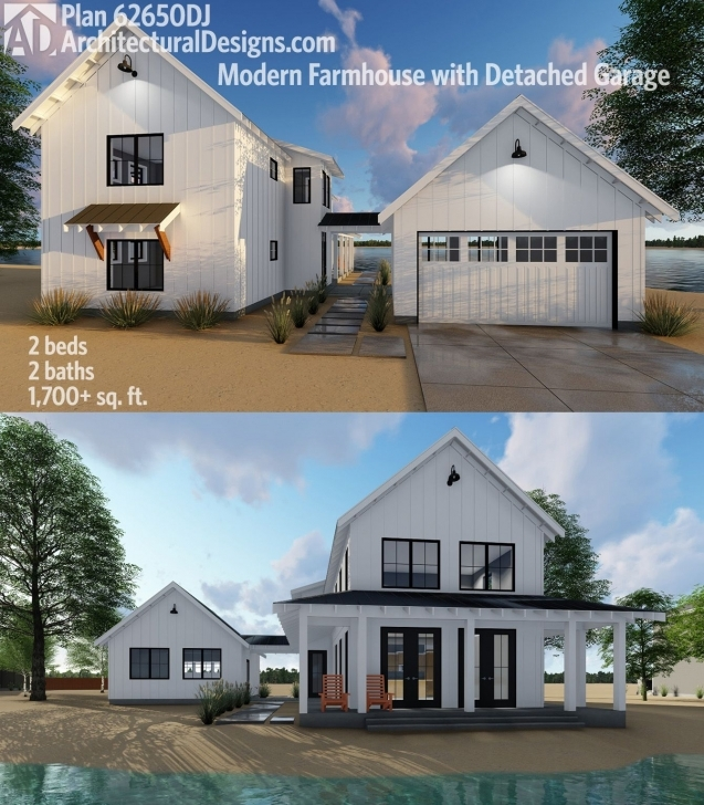 Good Plan 62650Dj: Modern Farmhouse Plan With 2 Beds And Semi-Detached Modern Farmhouse Plans With Pictures Image