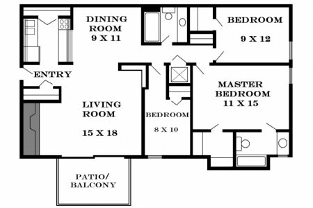 3 Bedroom Flat Plan View In Nigeria