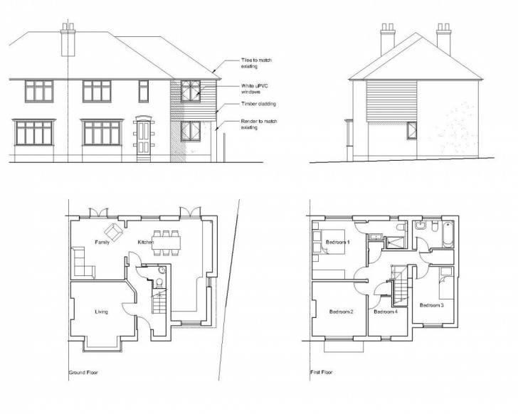 Good Semi Detached Extension Layout Ideas - Google Search | England Semi Detach Bungalow Plan And Elevation Image