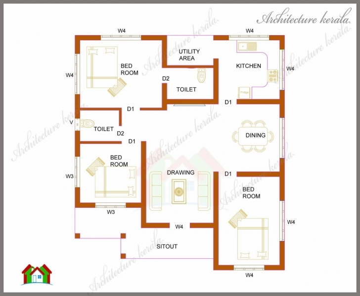 Gorgeous 19 Beautiful 2 Bedroom House Plans Kerala Style 1200 Sq Feet 2 Bedroom House Plans Kerala Style 1200 Sq Feet Pic