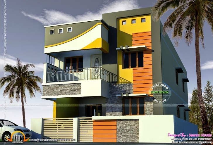 Gorgeous 2000 Sq-Feet Tamilnadu House - Kerala Home Design And Floor Plans Interior Design Tamil Nadu Small House Image Photo