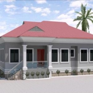 Three Bed Roomed Nigerian House Plan