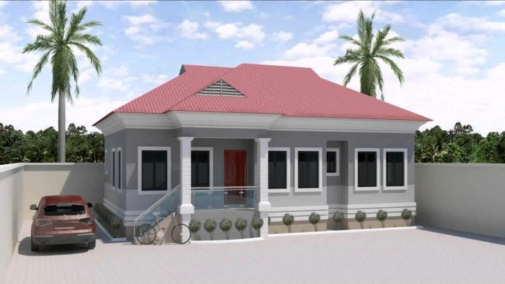 Gorgeous 3 Bedroom House Design In Nigeria - Youtube Three Bed Roomed Nigerian House Plan Pic