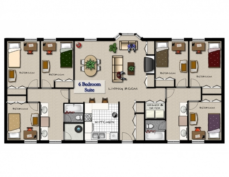 Gorgeous 4 Bedroom Flat House Plans Apartment - Arelisapril House Plans For 6 Bedroom Flat Pic