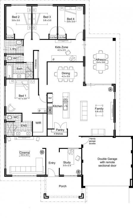 Gorgeous 40 Best 2D And 3D Floor Plan Design Images On Pinterest | House Simple 2D Plan Image